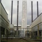 Trabajos en altura recubrimiento y pintura de chimeneas resistentes para alta temperatura SERINCO